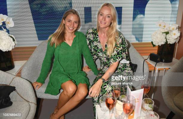 The actress Annika Blendl and the editorinchief Madame Petra Winter can be seen at the Grand Opening of Munich's new magnificent mile in the...