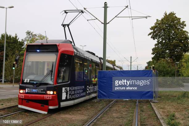 Bavaria Nuremberg A damaged tram is on the road after a collision with a woman A 50yearold woman was run over and killed by a tram in Nuremberg The...