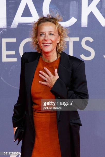 """September 2018, Berlin: , Berlin: Actress Katja Riemann on the red carpet for the premiere of """"Mackie Messer-Brecht's Threepenny Opera"""" at Zoo Palast..."""