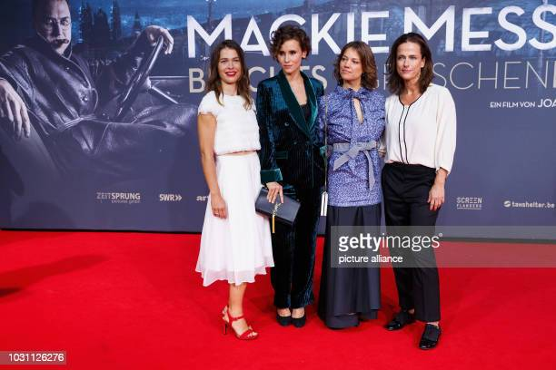 September 2018, Berlin: , Berlin: Meike Droste , Peri Baumeister, Britta Hammelstein and Claudia Michelsen on the red carpet for the premiere of...