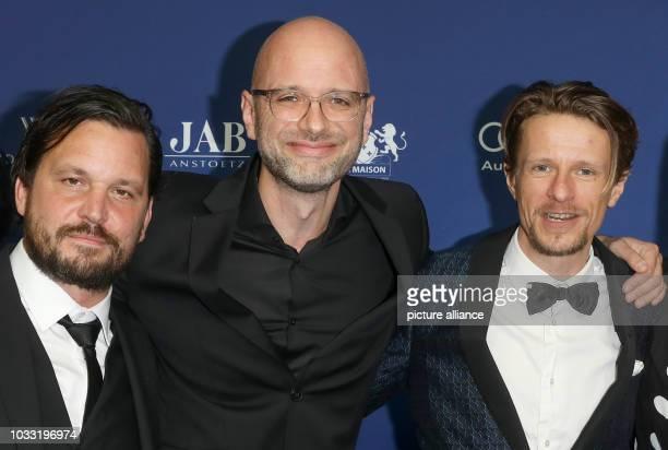 14 September 2018 Germany Berlin Director Kilian Riedhof and actors Sascha Alexander Gersak and Alexander Scheer are awarded the German Acting Prize...