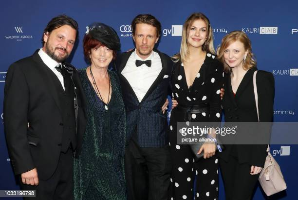 14 September 2018 Germany Berlin Producer Regina Ziegler and actors Sascha Alexander Gersak Alexander Scheer Zsa Zsa Inci Burkle and Lilli Fichtner...