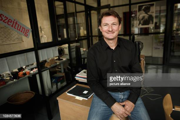 """September 2018, Berlin: Georg Loewisch, editor-in-chief of """"taz - die tageszeitung"""" , in his office at the newspaper's editorial office in the Rudi..."""