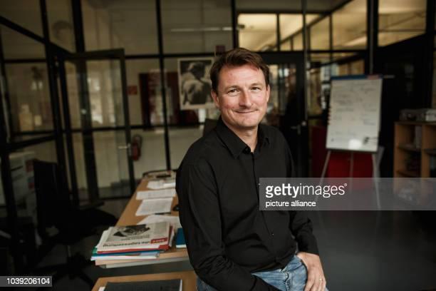 September 2018, Berlin: Georg Löwisch, editor-in-chief of taz - die tageszeitung, in his office in the newspaper's editorial office. Die Tageszeitung...