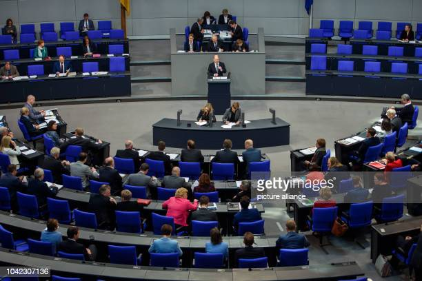 Olaf Scholz Federal Minister of Finance will speak during the plenary session of the German Bundestag Topics of the 53rd session of the 19th...