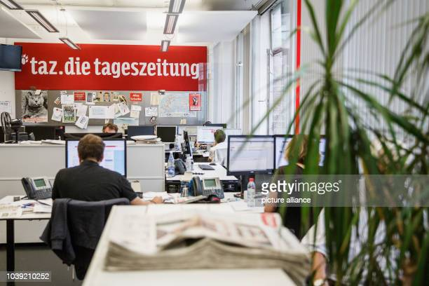 September 2018, Berlin: taz editorial office - die tageszeitung. Die Tageszeitung is a national German daily newspaper. It was founded in 1978 as an...
