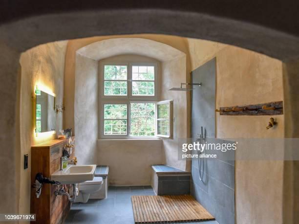 12 September 2018 Brandenburg Neuenhagen A bathroom of a guest room in the castle in Neuenhagen near Bad Freienwalde by Christina Bohin and Andreas...