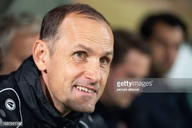 Soccer Europa League Ludogorez Rasgrad Bayer Leverkusen Group Stage Group A Matchday 1 at the Arena Ludogorez Leverkusen coach Heiko Herrlich looks...