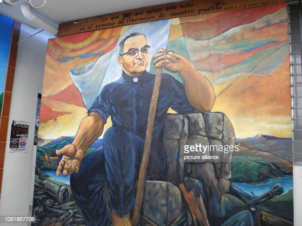 13 September 2018 El Salvador San Salvador 13 September 2018 El Salvador San Salvador A wall painting shows the murdered bishop Óscar Romero the...