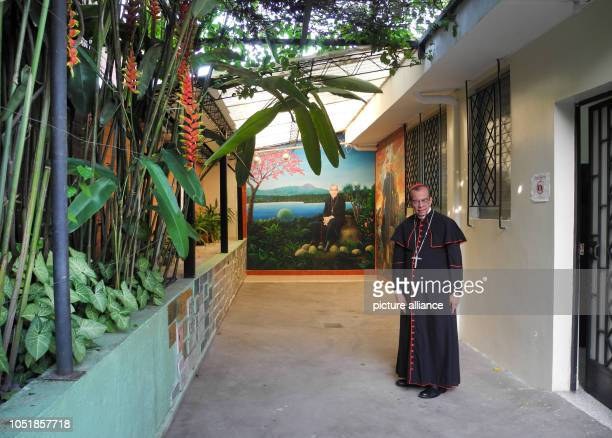 13 September 2018 El Salvador San Salvador 13 September 2018 El Salvador San Salvador Cardinal Rosa Chávez stands in the former residence of Óscar...