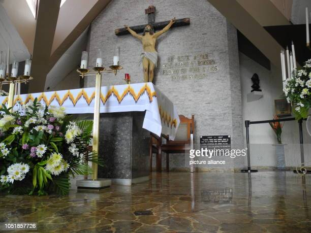 13 September 2018 El Salvador San Salvador 13 September 2018 El Salvador San Salvador The altar of the hospital chapel Divina Providencia before the...