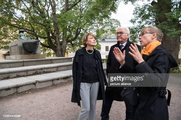 Federal President FrankWalter Steinmeier and his wife Elke Büdenbender visit the Suomenlinna fortress near Helsinki President Steinmeier and his wife...