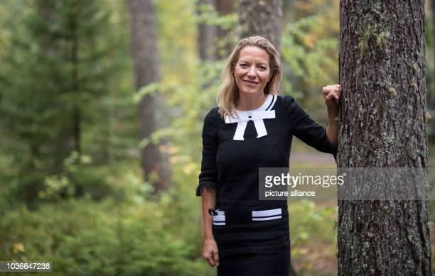 Antje Boetius Director of the Alfred Wegener Institute Helmholtz Centre for Polar and Marine Research in Bremerhaven stands in a forest at the...