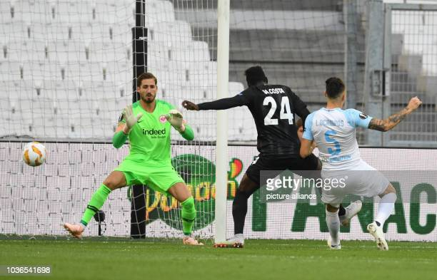Soccer Europa League Olympique Marseille Eintracht Frankfurt Group stage Group H Matchday 1 at Stade Vélodrome Lucas Ocampos from Marseille scored...