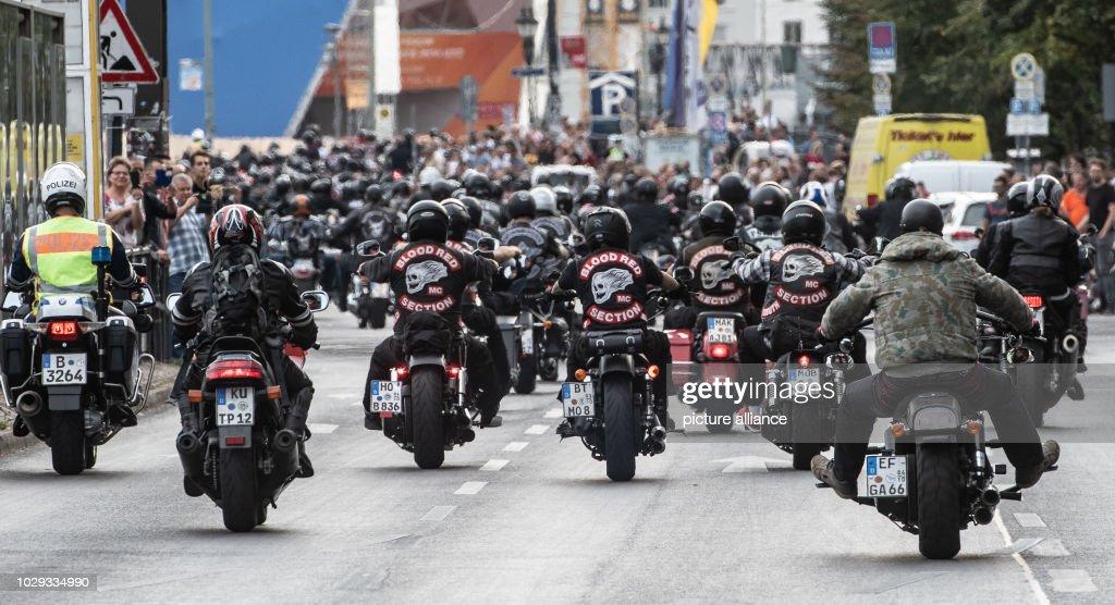 Demonstration of Hells Angels : News Photo