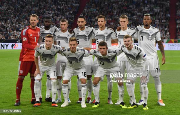 Soccer Nations League A Germany vs France Group stage Group 1 Matchday 1 Germany's team with goalkeeper Manuel Neuer Antonio Ruediger Toni Kroos Mats...