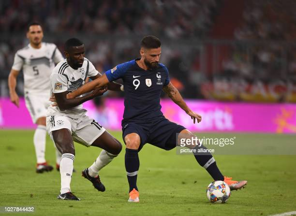 Soccer Nations League A Germany vs France Group stage Group 1 Matchday 1 Antonio Ruediger from Germany and Olivier Giroud from France in a duel Photo...