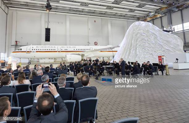The Airbus A321 with the military registration number '1504' will be unveiled in a hangar of Lufthansa Technik during a handover ceremony The...