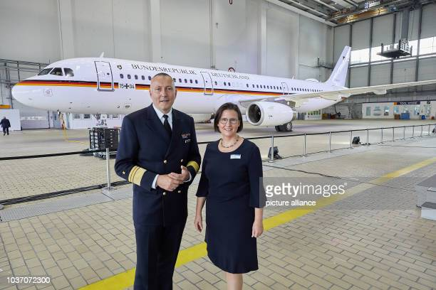 Vice Admiral Carsten Stawitzki Head of the Equipment Department at the Federal Ministry of Defence and Constanze Hufenbecher Lufthansa Technik...