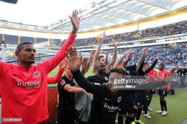 30 September 2018 Hessen Frankfurt_Main Soccer Bundesliga Eintracht Frankfurt Hannover 96 6th matchday on in the CommerzbankArena Sebastien Haller...