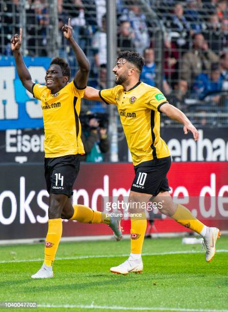 25 September 2018 North RhineWestphalia Bochum Soccer 2nd Bundesliga VfL Bochum Dynamo Dresden 7th matchday in the Vonovia Ruhrstadion Dresden goal...