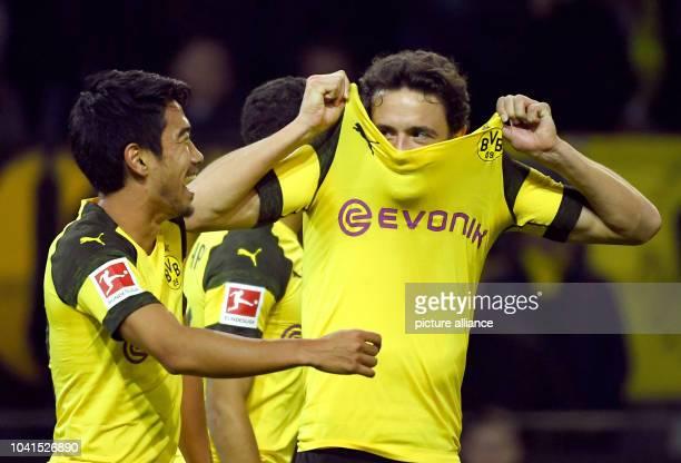26 September 2018 North RhineWestphalia Dortmund Soccer Bundesliga Borussia Dortmund 1st FC Nuremberg 5th matchday at Signal Iduna Park Shinji Kagawa...