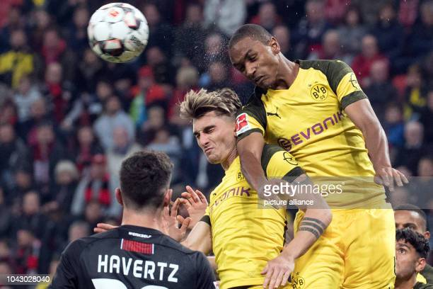 29 September 2018 North RhineWestphalia Leverkusen Soccer Bundesliga Bayer Leverkusen Borussia Dortmund 6th matchday on in the BayArena Dortmund's...