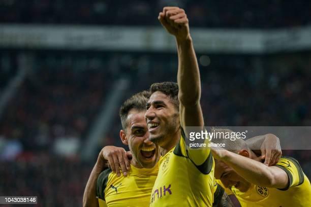 29 September 2018 North RhineWestphalia Leverkusen Soccer Bundesliga Bayer Leverkusen Borussia Dortmund 6th matchday in the BayArena Dortmund's Paco...