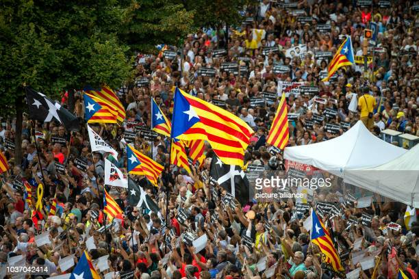 Under the motto We have been and will be again people protest on the first anniversary of the referendum on independence from Catalonia The...