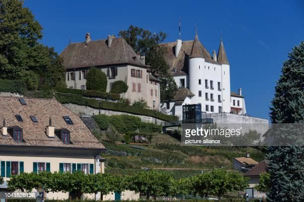 The castle of the city on Lake Geneva Photo Soeren Stache/dpa