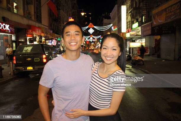 September 2018, US, New York: Cynthia Koo and Valentino Wong in Chinatown. The neighborhood is high on the list of sights of almost all New York...