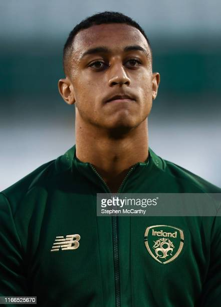 September 2019 Adam Idah of Republic of Ireland during the UEFA European U21 Championship Qualifier Group 1 match between Republic of Ireland and...