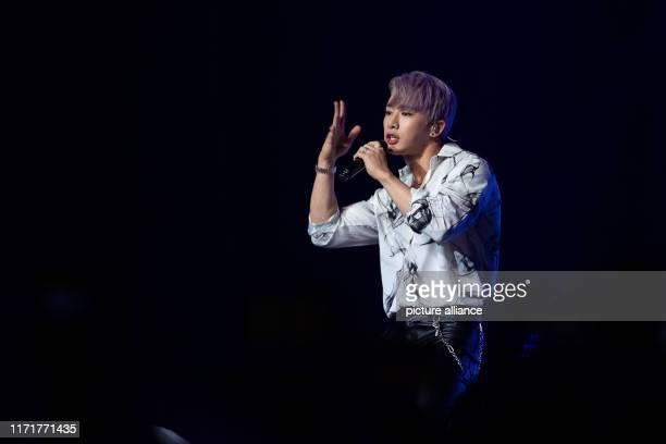 28 September 2019 BadenWuerttemberg Mannheim Kihyun from the band Monsta X performs during the KPopFestival Finger Heart Festival Koreanlanguage pop...