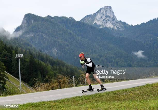 September 2019, Bavaria, Ruhpolding: Biathlete Johannes Kühn trains at the Biathlon Media Day of the German Ski Federation. Photo: Angelika...