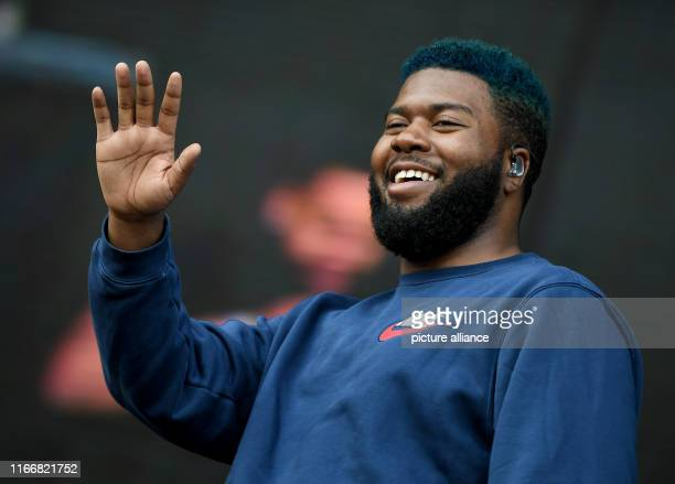September 2019, Berlin: The US-American singer Khalid is on stage at the Lollapalooza Festival Berlin on the grounds of the Olympic Stadium. Photo:...