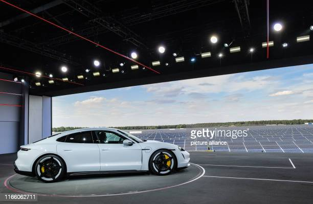 September 2019, Brandenburg, Neuhardenberg: The Porsche Taycan will be presented to the public for the first time at the world premiere of the...