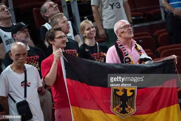 September 2019, China, Shenzhen: Basketball: WM, Germany - Dominican Republic, preliminary round, group G, 2nd matchday at Shenzhen Bay Sports...