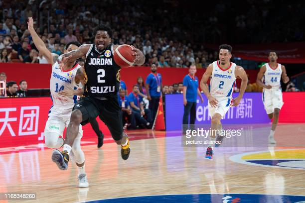 Basketball World Cup Dominican Republic Jordan preliminary round Group G 1st matchday at Shenzhen Bay Sports Center Jordan's Dar Tucker plays against...