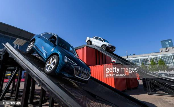11 September 2019 Hessen Frankfurt/Main An Audi etron 55 Quattro and a Ford Ranger Raptor drive on a test track on the grounds of the IAA Photo Silas...