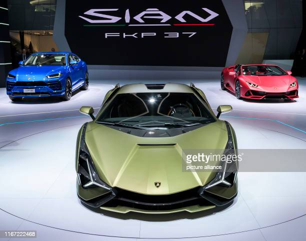 10 September 2019 Hessen Frankfurt/Main The new Lamborghini Sián FKP 37 will be presented at a press conference at the Lamborghini stand at the IAA...