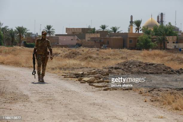 September 2019, Iraq, Samarra: A member of the Peace Companies , an Iraqi armed group linked to Iraq's Shia community and part of the Iraqi...