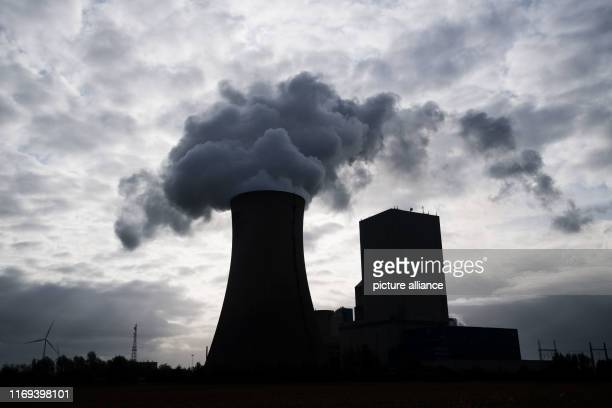 September 2019, Lower Saxony, Hohenhameln: Steam rises from the Mehrum coal-fired power station. The Climate Cabinet will meet on to decide on a...