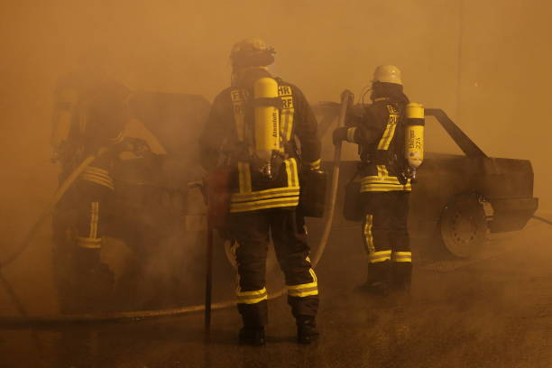 DEU: Fire Drill Of The Duesseldorf Fire Brigade In A Highway Tunnel