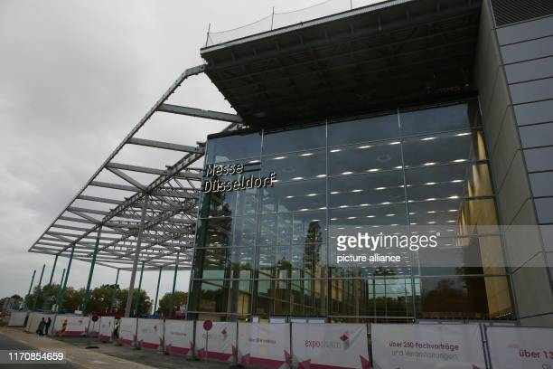 September 2019, North Rhine-Westphalia, Duesseldorf: The new Hall 1 of Messe Düsseldorf. The covered exhibition area is more than two football...