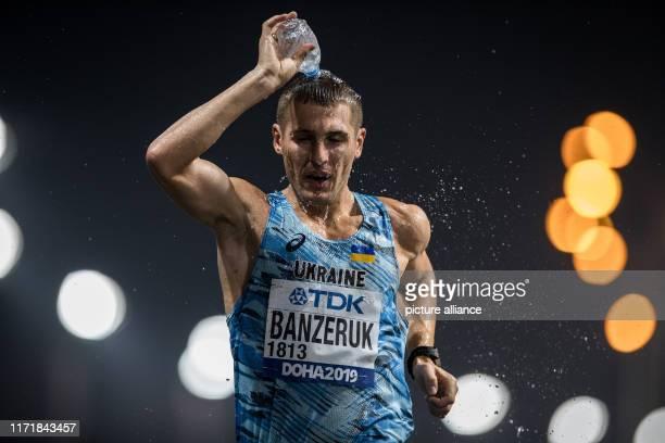 September 2019, Qatar, Doha: Athletics: World Championship, 50 km walking, men. Ivan Banzeruk from Ukraine in action. Photo: Oliver Weiken/dpa