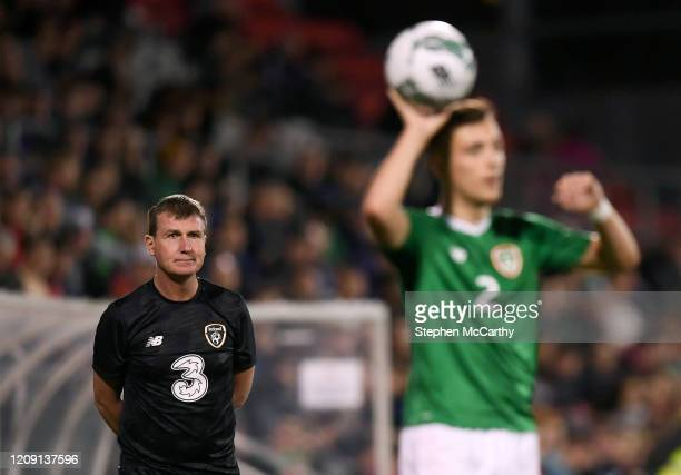 September 2019 Republic of Ireland U21 manager Stephen Kenny during the UEFA European U21 Championship Qualifier Group 1 match between Republic of...