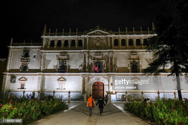 21 September 2019 Spain Alcala De Henares The façade of the historic University of Alcala one of the oldest universities in Europe in the historic...