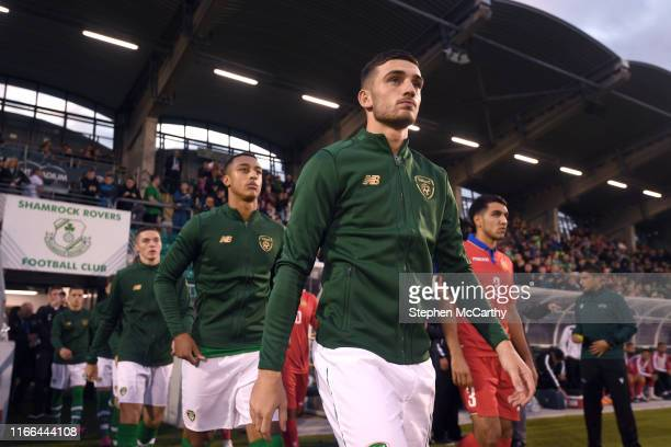 September 2019 Troy Parrott of Republic of Ireland prior to the UEFA European U21 Championship Qualifier Group 1 match between Republic of Ireland...