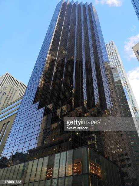 September 2019, US, New York: Trump Tower in Manhattan. Trump Tower is a 58-story skyscraper on Fifth Avenue, 56th Street. The residential and office...