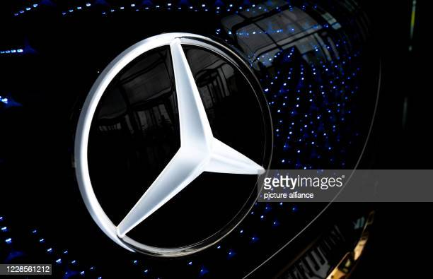 September 2020, Baden-Wuerttemberg, Stuttgart: A show car Mercedes Vision EQS will be on display during the presentation of the interim balance of...